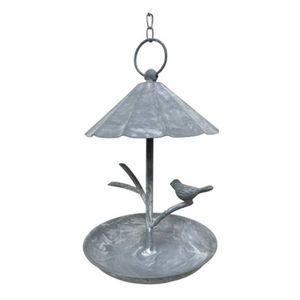 CHEMIN DE CAMPAGNE - bain d'oiseaux mangeoir à oiseau en fer à suspend - Birdbath