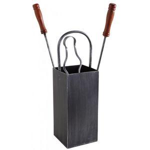 Aubry-Gaspard - serviteur de cheminée en fer forgé 3 accessoires - Fireplace Set