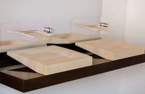 Maison Derudet - lamellé roches - Freestanding Basin