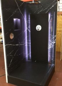 Maison Derudet - marbre noir - Walk In Shower