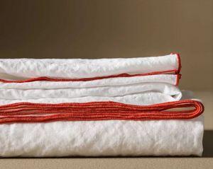 BLANC CERISE - )autour du lin - Rectangular Tablecloth