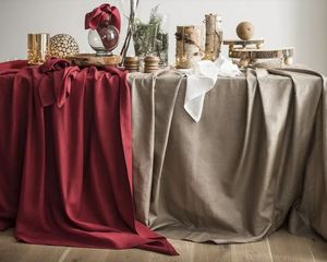 BLANC CERISE - &délices de lin-- - Rectangular Tablecloth
