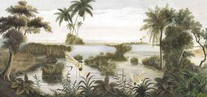 Ananbô - les rives du mékong - Panoramic Wallpaper
