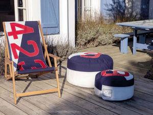 727 SAILBAGS - transat en chêne navy - Deck Chair