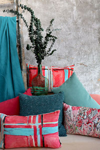 LALIE DESIGN - madras rose - Fabric By The Metre