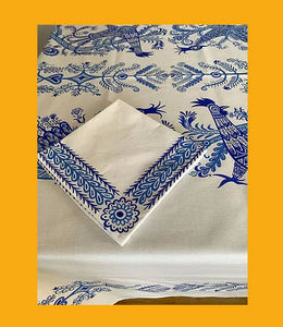 Le Minor - oiseaux du paradis bleus - Rectangular Tablecloth