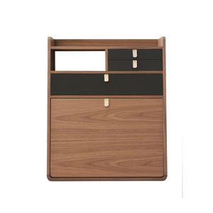 HARTÔ - gaston - secrétaire noyer tiroirs ardoise - Secretary Desk