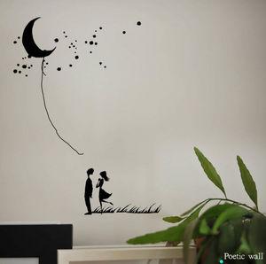 POETIC WALL - décroche-moi la lune - Sticker