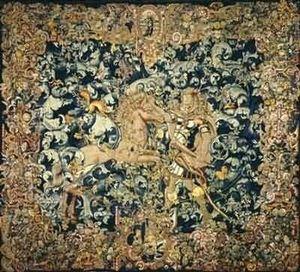 Motifs Licorne - hercule et l'un des etalons de diomède - Classical Tapestry