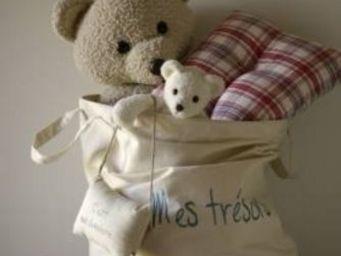 BILLES ET MARELLE - sac mes trésors - Teddy Bear Bag