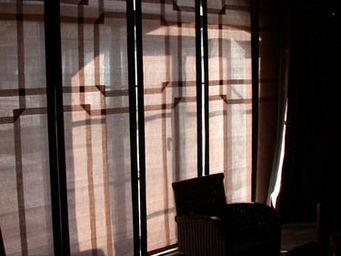 PIETRO SEMINELLI - abaca cuivre/ panneaux coulissants - American Blind