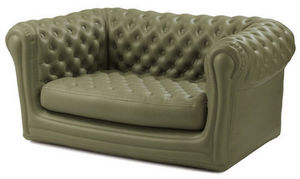 BLOFIELD - 2-seater earth green - Blow Up Sofa