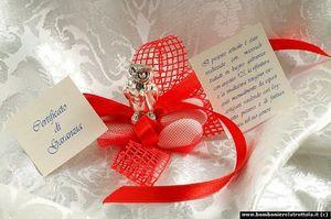 Bomboniere LA TROTTOLA - gufetto laminato argento - Graduation Sweet Favour
