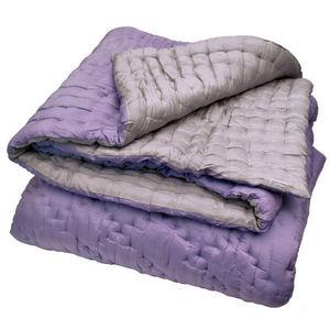 Pivoine et Tapioca - boutis soie lilas réversible - Children's Matelasse Bedspread
