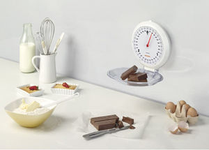 Wall mounted kitchen scale