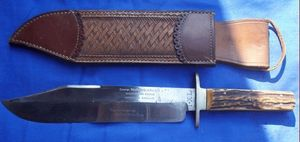 Cedric Rolly Armes Anciennes - original bowiie serie limitee - Hunting Knife