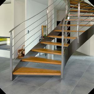 Atelier Benoît Hérouard - escalier balancé - Suspended Staircase