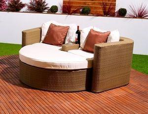 Abode Interiors - garden rattan valentine sofa natural - Double Sun Lounger
