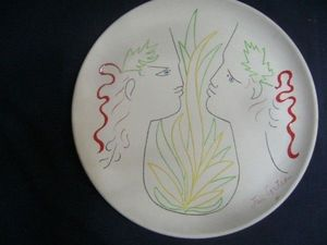 SYLVIA POWELL DECORATIVE ARTS - orphee et eurydice - Decorative Platter