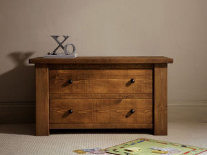 Indigo Furniture - plank map table - Low Chest
