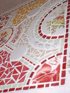 Mosaïque Patatras - mosaique sur meuble - Mosaic