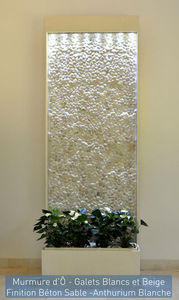 ETIK&O - murmure d'ô galets naturels blancs - Water Wall