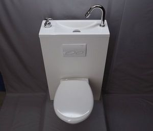 ATELIER CREATION JF - wici bati - Combined Wc And Wash Basin