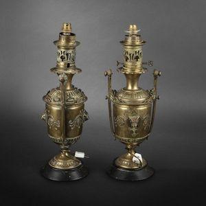 Expertissim - paire de lampes à pétrole - Oil Lamp