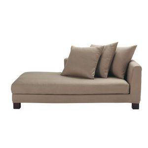 Maisons du monde - canapé droite taupe 2-3 places turenne - Lounge Sofa