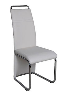 COMFORIUM - chaise simili cuir blanc moderne - Chair