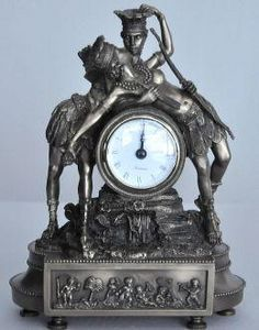Demeure et Jardin - pendule le baiser - Antique Clock