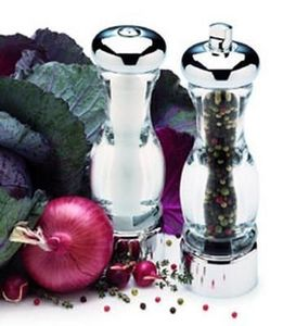 Olde Thompson - olympia chrome set - Saltcellar And Pepperpot