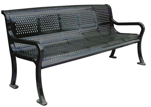 KAY PARK - Town bench-KAY PARK-Roll Formed Perforated Benches