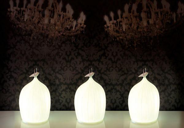 Beau & Bien - LED table light-Beau & Bien-SmooCage Porcelaine