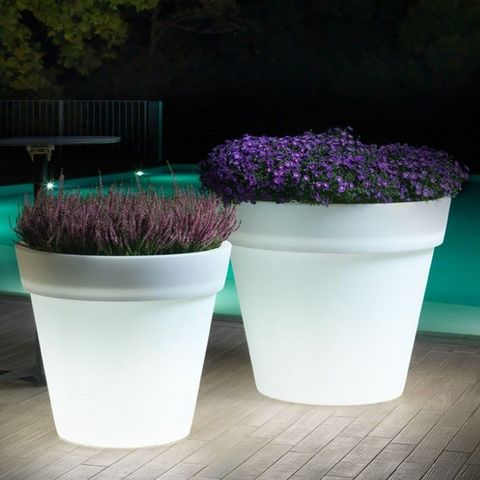 Lyxo by Veca - Illuminated pot-Lyxo by Veca-Cache-pot Easy outdoor