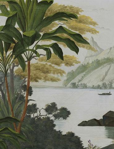 Ananbô - Panoramic wallpaper-Ananbô-Samoa couleur patine XVIIIème