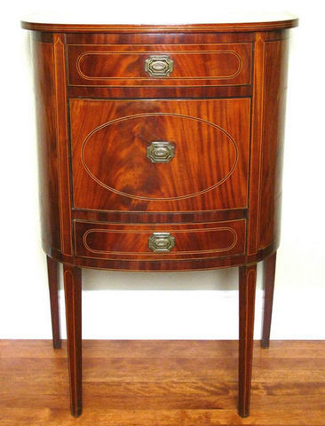 ERNEST JOHNSON ANTIQUES - Demilune commode-ERNEST JOHNSON ANTIQUES-Commode demi lune