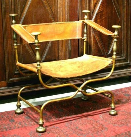 ERNEST JOHNSON ANTIQUES - Bishop's Chair-ERNEST JOHNSON ANTIQUES-Bishop's Chair / Faldistorium