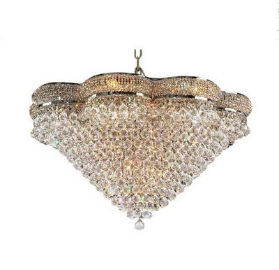 ALAN MIZRAHI LIGHTING - Chandelier-ALAN MIZRAHI LIGHTING-Crystal Golden perles