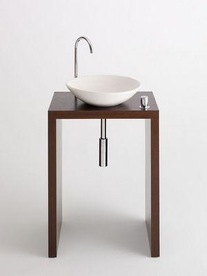 Design & Handwerk - Vanity unit-Design & Handwerk-Wengetisch furniert mit Tadelaktschale