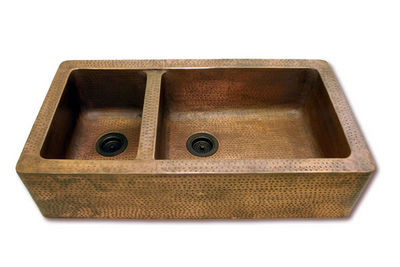 Brass & Traditional Sinks - Double sink-Brass & Traditional Sinks-Chateaux Kitchen Sink