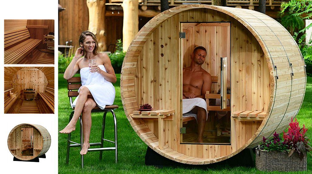 ALINA Außensauna Sauna & Dampfbad Bad Sanitär  |