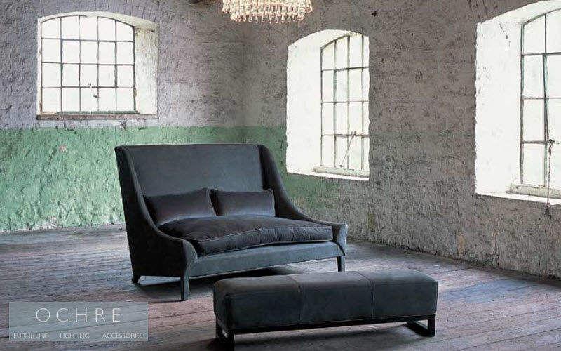 Ochre Gepolsterte Bank Sitzbänke Sitze & Sofas Wohnzimmer-Bar | Design Modern