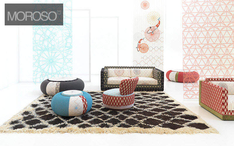 Moroso Sitzkissen Schemel und Beinauflage Sitze & Sofas   