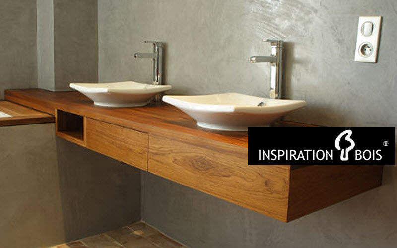 Inspiration Bois waschtischplatte Waschbecken Bad Sanitär  |