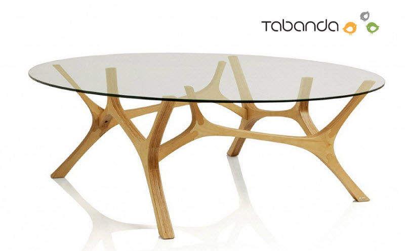 TABANDA Couchtisch ovale Couchtische Tisch  |