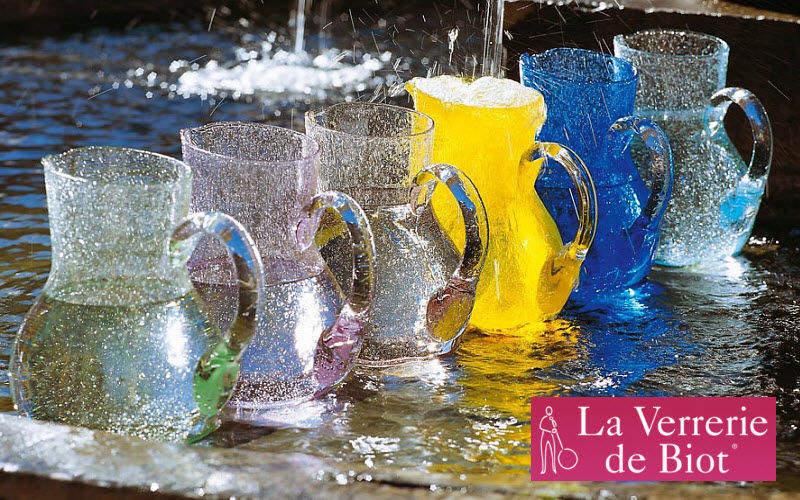 Verrerie De Biot Wasserkrug Flaschen und Karaffen Glaswaren  |