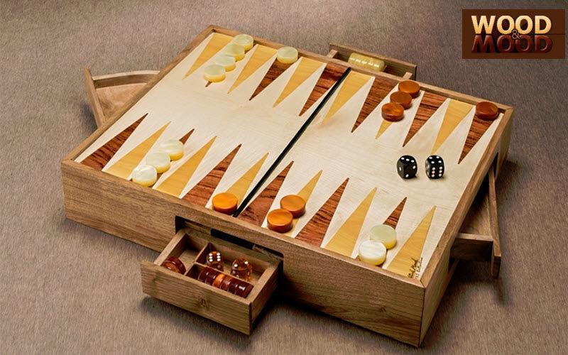 WOOD AND MOOD Backgammon Gesellschaftsspiele Spiele & Spielzeuge  |
