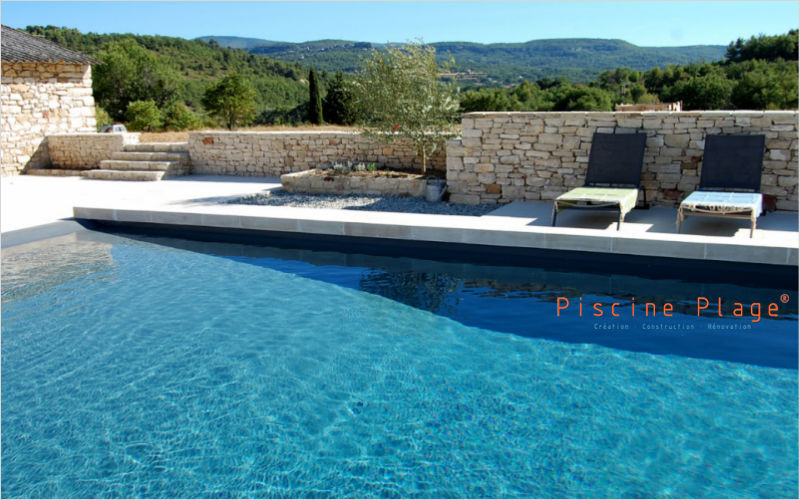 PISCINE PLAGE Traditioneller Swimmingpool Schwimmbecken Schwimmbad & Spa   