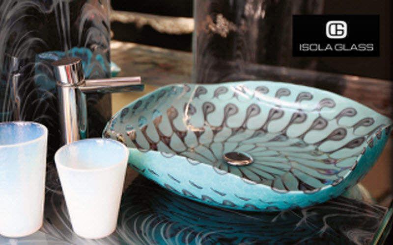 Isola Glass Waschbecken freistehend Waschbecken Bad Sanitär  |